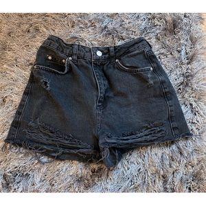 Top Shop Mom Jean Shorts